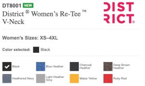 womens color chart